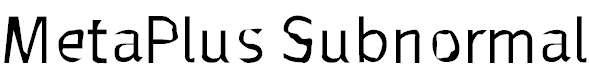 MetaPlus-Subnormal