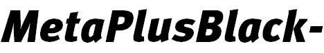 MetaPlusBlack-Italic