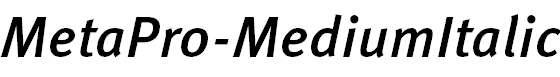 MetaPro-MediumItalic