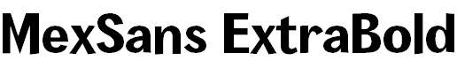 MexSans-ExtraBold