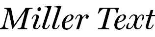 Miller-TextItalic