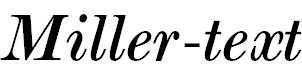 Miller-text-Italic
