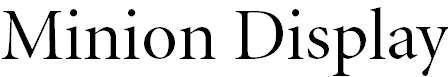 Minion-DisplayRegular