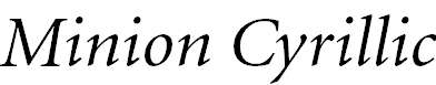 MinionCyr-Italic