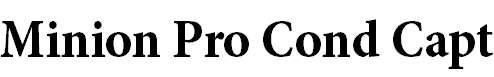 MinionPro-BoldCnCapt