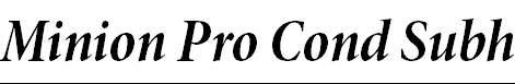MinionPro-BoldCnItSubh