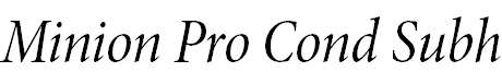 MinionPro-CnItSubh