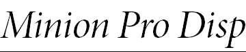 MinionPro-ItDisp