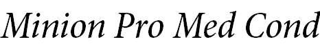 MinionPro-MediumCnIt