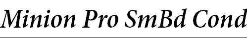MinionPro-SemiboldCnIt