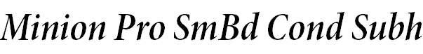 MinionPro-SemiboldCnItSubh