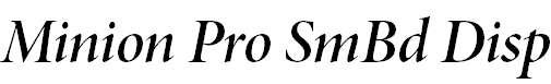 MinionPro-SemiboldItDisp