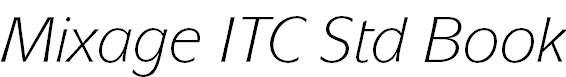 Mixage ITC Std Book Italic