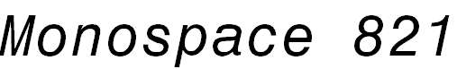 Monospace821BT-Italic