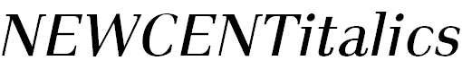 NEWCENTitalics-Roman