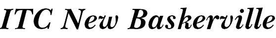 NewBaskervilleITCbyBT-BoldItal