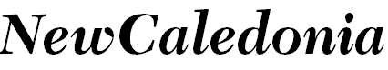 NewCaledonia-BoldItalic