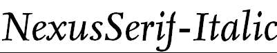 NexusSerif-Italic
