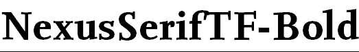 NexusSerifTF-Bold