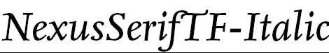 NexusSerifTF-Italic