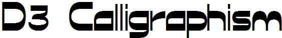 D3-Calligraphism
