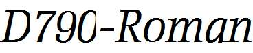 D790-Roman-Italic