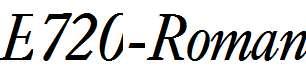 E720-Roman-Italic