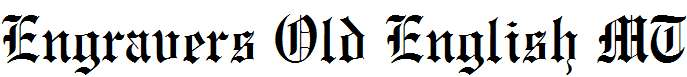 Engravers-Old-English