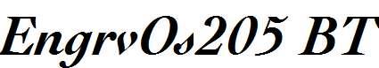 EngrvOs205-BT-Bold-Italic