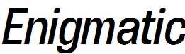 Enigmatic-Italic