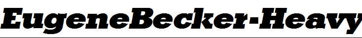 EugeneBecker-Heavy-Italic