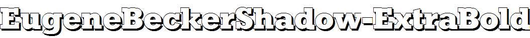 EugeneBeckerShadow-ExtraBold-Regular