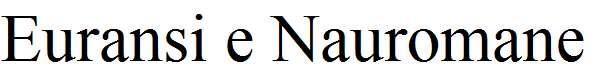 Euransi-e-Nauromane-