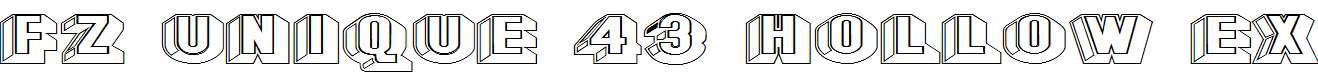 FZ-UNIQUE-43-HOLLOW-EX