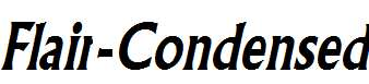 Flair-Condensed-Bold-Italic