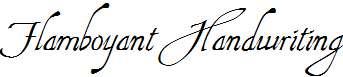 Flamboyant-Handwriting