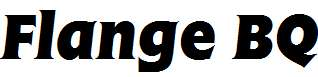 Flange-R-Bold-Italic