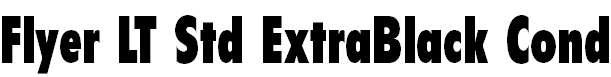 FlyerLTStd-ExtraBlackCond