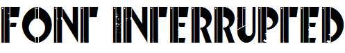 Font-Interrupted