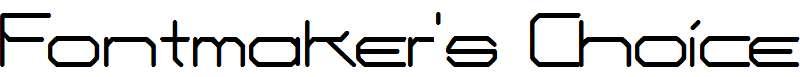 Fontmaker-s-Choice