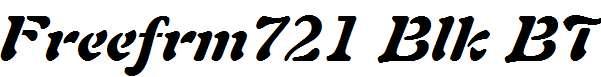 Freeform-721-Black-Italic-BT