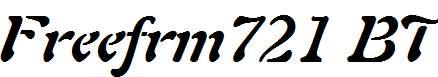 Freeform-721-Bold-Italic-BT