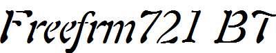 Freeform-721-Italic-BT