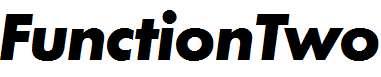 FunctionTwo-BoldItalic