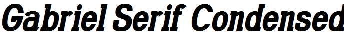 Gabriel-Serif-Condensed-Bold-Italic