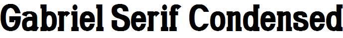Gabriel-Serif-Condensed-Bold