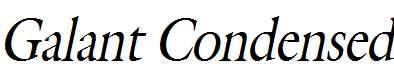 Galant-Condensed-Italic