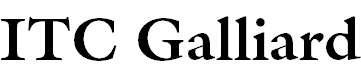 Galliard-Bold