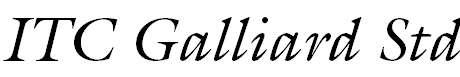 GalliardStd-Italic