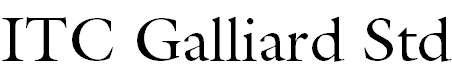 GalliardStd-Roman